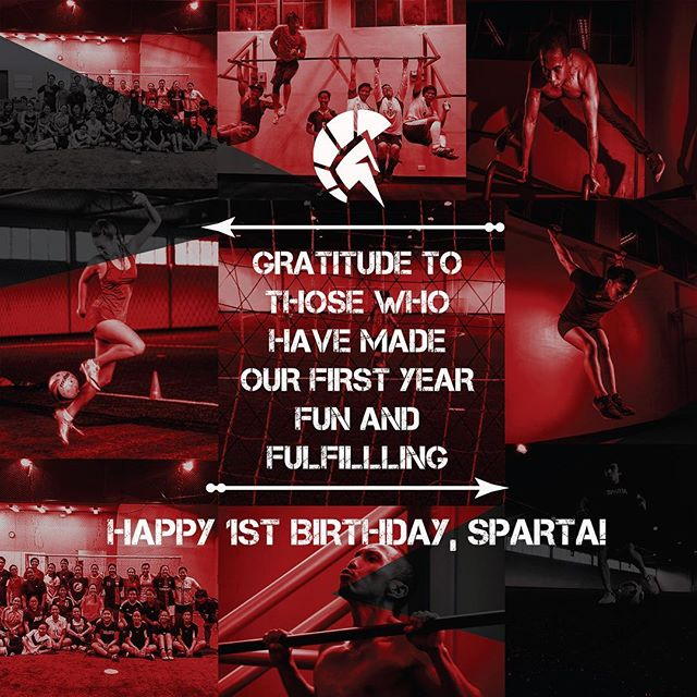 Today is SPARTA's 1st Birthday! Thank you soooo much to everyone that has helped make SPARTA a business worth being in. It has been very exciting serving all of you these past 365 days, and rest assured, we're striving to give you MORE facilities and more fun activities inside our space.We love you all and we hope you allow us to continue to change your lives for the better! Awooooo!!! 🏻️😎⛹🏾🚴🏽🏽🏹🏌 Give us a like if you want MORE SPARTA in your lives! #thisisspartaph #spartanattitude #spartanresolution #webreedchampions