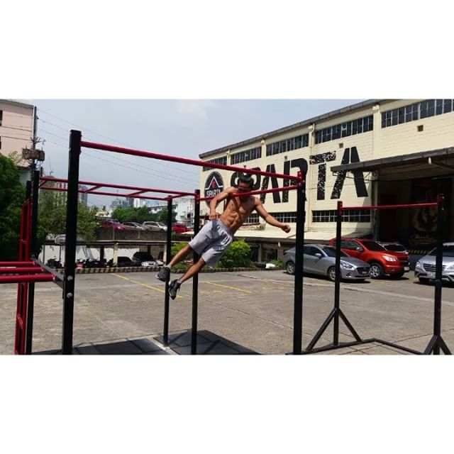 Testing out the Hari ng Baras rig! Get your bar flow and reps ready for this Saturday! There will be 1v1 and 2v2 skills battles from 730 am to 5pm. For the reps battles, you may register on the day itself and try for your max set either in Muscle Ups, Pull ups or Dips. You can also join all three! Best set from 1 Male and 1 Female of the day wins for each exercise! For questions or clarifications please send us a PM on Facebook! :) Hari ng Baras is happening this Saturday, July 16, 2016 at Sparta Philippines. 126 Pioneer Street Mandaluyong, Metro Manila.#ThisIsSpartaPH #HariNgBaras #ReynaNgBaras #pullups #dips #muscleups #calisthenics #streetworkout @fnfhalimau @edmarbelbes12