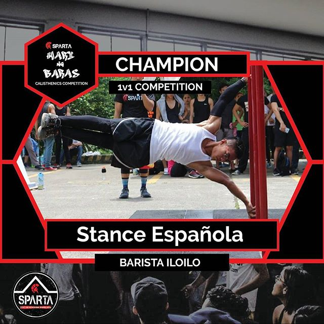 This year's Hari ng Baras is Stance Española from Barista Iloilo! Stance wowed the whole calisthenics community with his insane strength and skill, doing moves that most people only dream of doing. Congratulations Stance and we hope to see more from you in the next battles as you defend your crown! Start your fitness journey with Sparta Calisthenics Academy now! Rates:10 CLASS PASS1500/10 CLASSESKALOS (SPARTAN AESTHETICS)2000/month unlimitedSTHENOS (SPARTAN STRENGTH)3000/month unlimitedKALOS+STHENOS 4000/month unlimitedKALOS+STHENOS+OPEN GYM5000/month unlimitedPERSONAL TRAINING800/sessionWALK IN KALOS or STHENOS 500/sessionWALK IN OPEN GYM200/day#calisthenics #THISISSPARTAPH #HariNgBaras