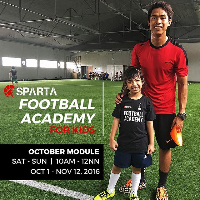 Sparta Football Academy October Module is coming up soon!!! Learn football from AFC A and C Licensed coaches  in our very new 12-week program ️🏻 We will also have our very own Sparta Cup Tournament at the end of the session where kids can win Sparta trophies, medals, and more. Call 09777634402 /6553799 for reservations !!!  See you soon ! #thisisspartaph #football #indoorfootball #soccer #fifa #kids